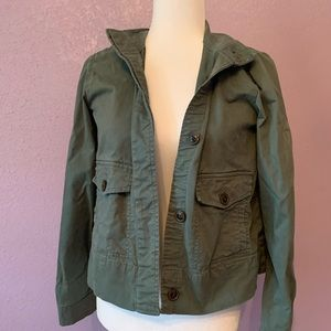 GAP Boxy Army Green Cotton Jacket